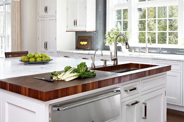 Interior design trends of the kitchen chopping station 2018