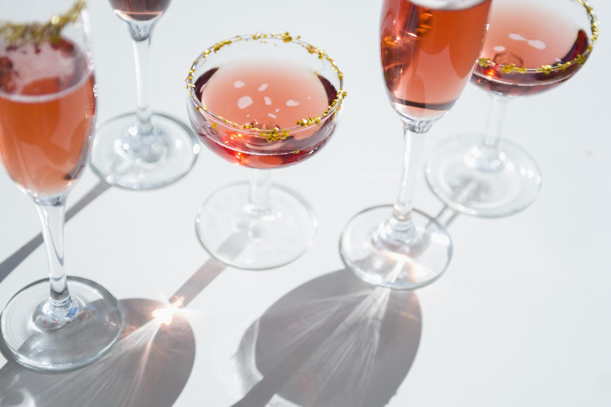 Summer entertaining rose cocktails