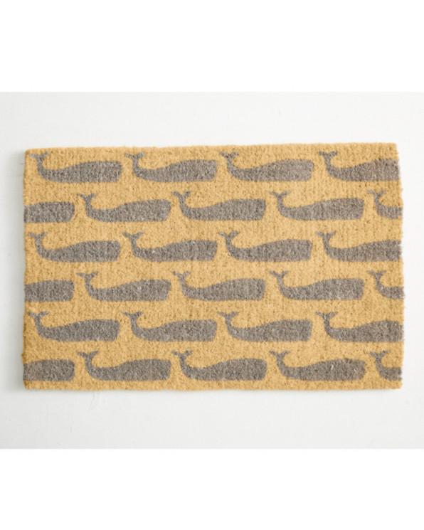 Whale Print Coconut Doormat