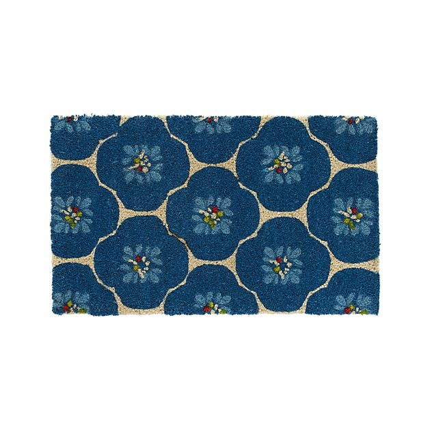 Coconut doormat with bluebell print