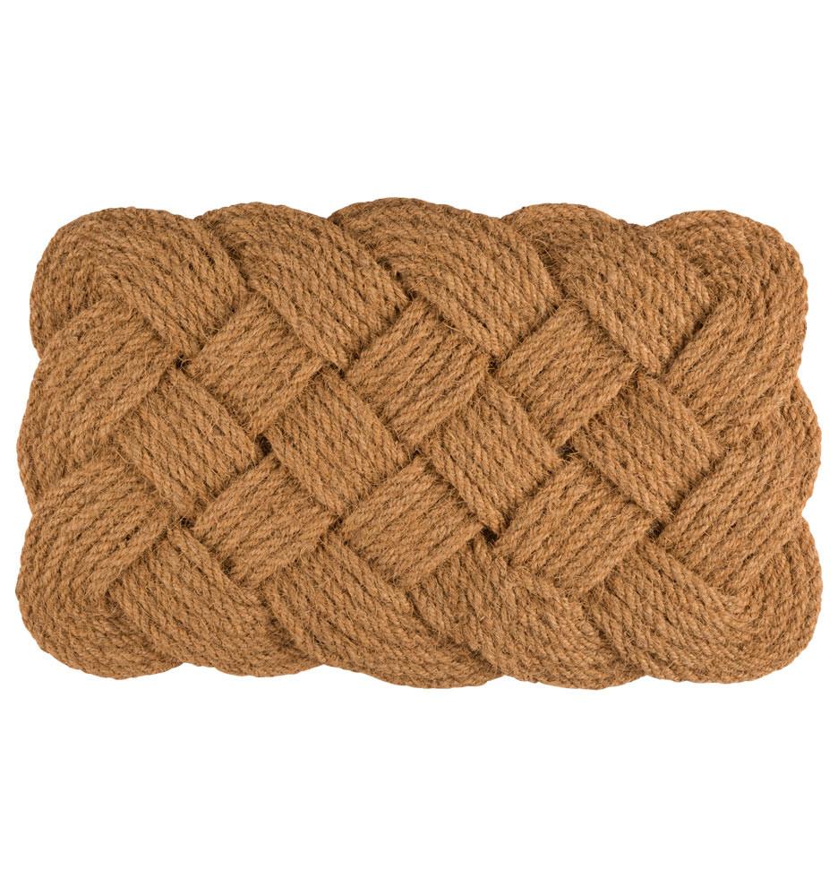 braided coconut doormat