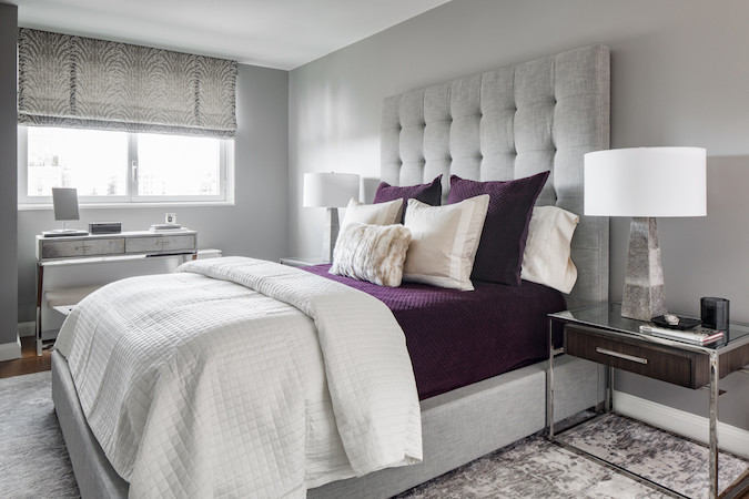 Hotel-worthy bed tufted headboard