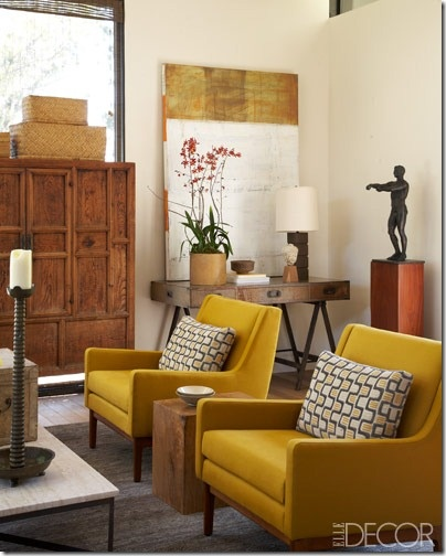 Summer design trends mustard yellow