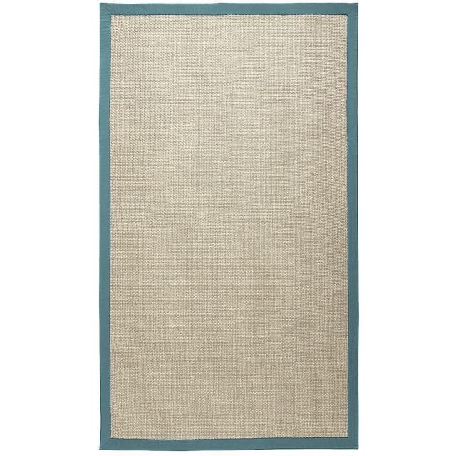 jute carpet outdoor blue border