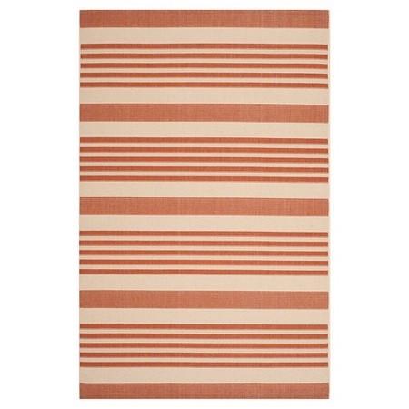 orange white stripe outdoor carpet