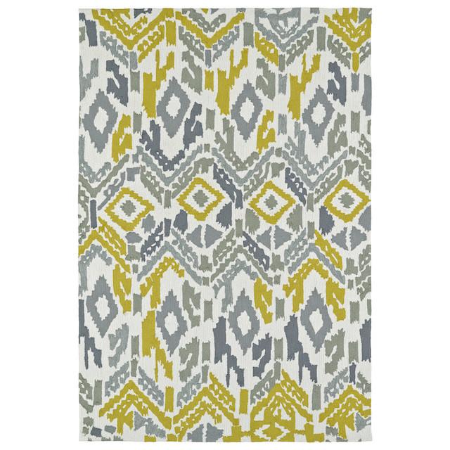 gray ivory yellow ikat exterior carpet
