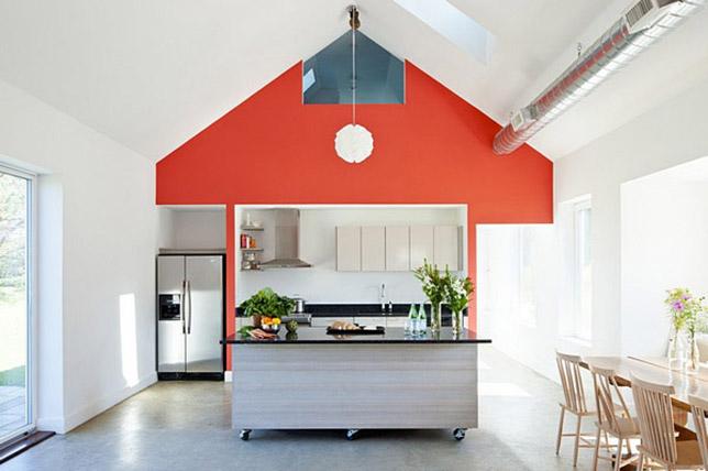 Accent wall interior design
