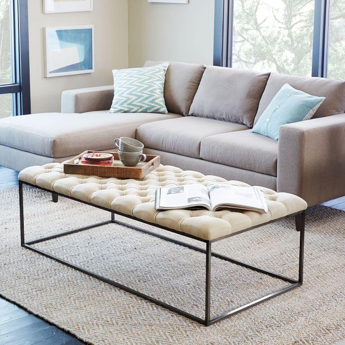 comfortable living room ottoman