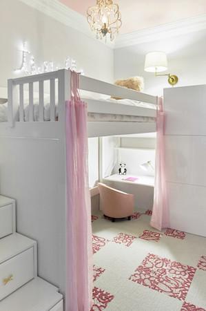 Loft bed for children's rooms