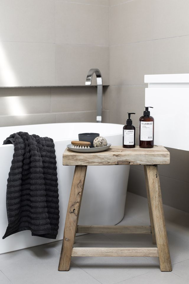 Spa side table stool for the home