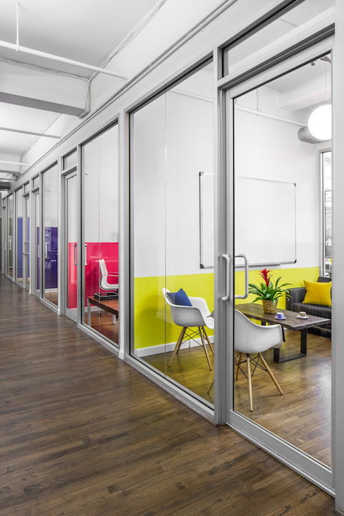 Color coordination of the office design