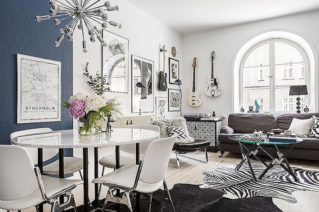 Bold little apartment living room decoration inspiration