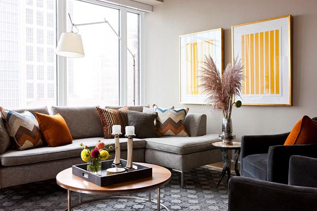 Mixed pattern interior design style