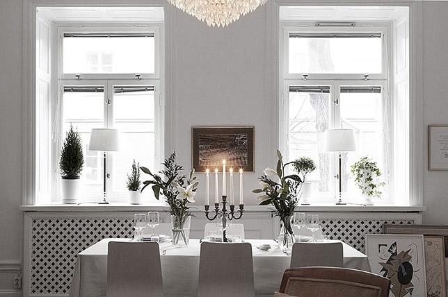 Scandinavian window treatment interior design style