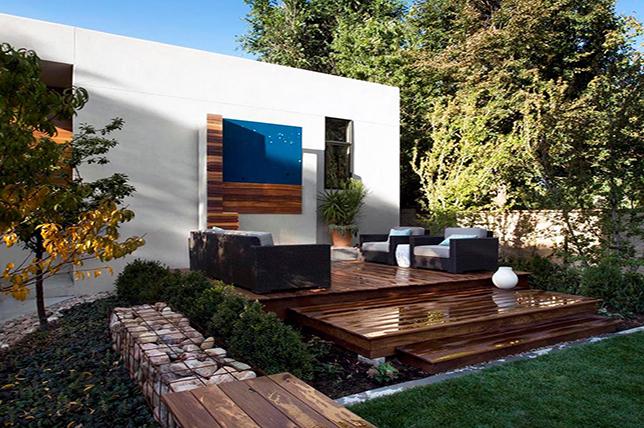 modern ideas for terrace art