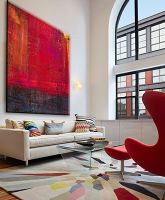 Decor ideas with a red accent