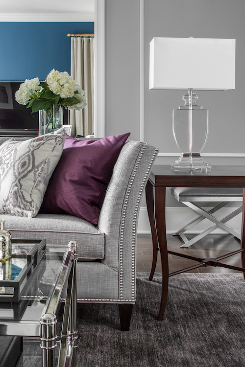 gray sofa cushions