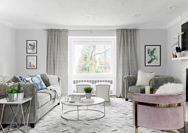 gray sofa styling tricks