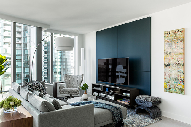 gray sofa styling