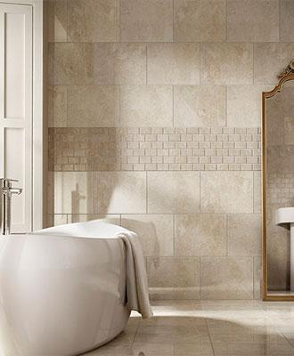 Bathroom natural tiles
