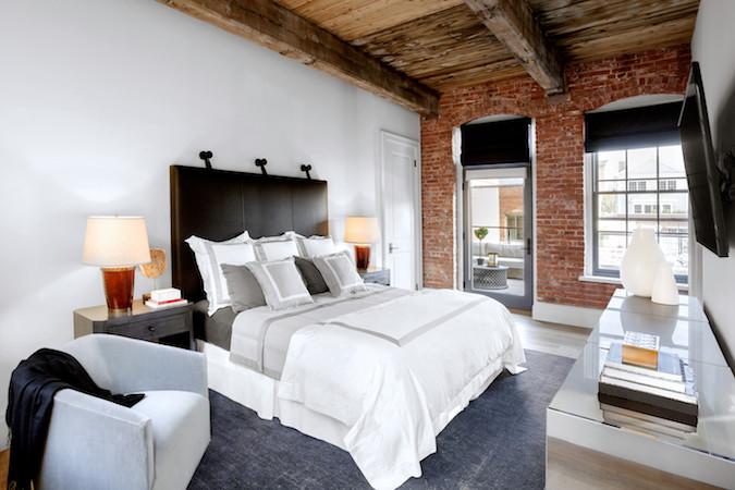 Master bedroom comfortable bed