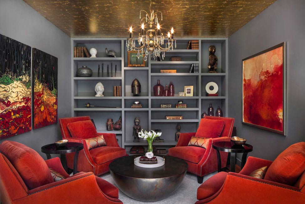 Brighten dark rooms with high gloss