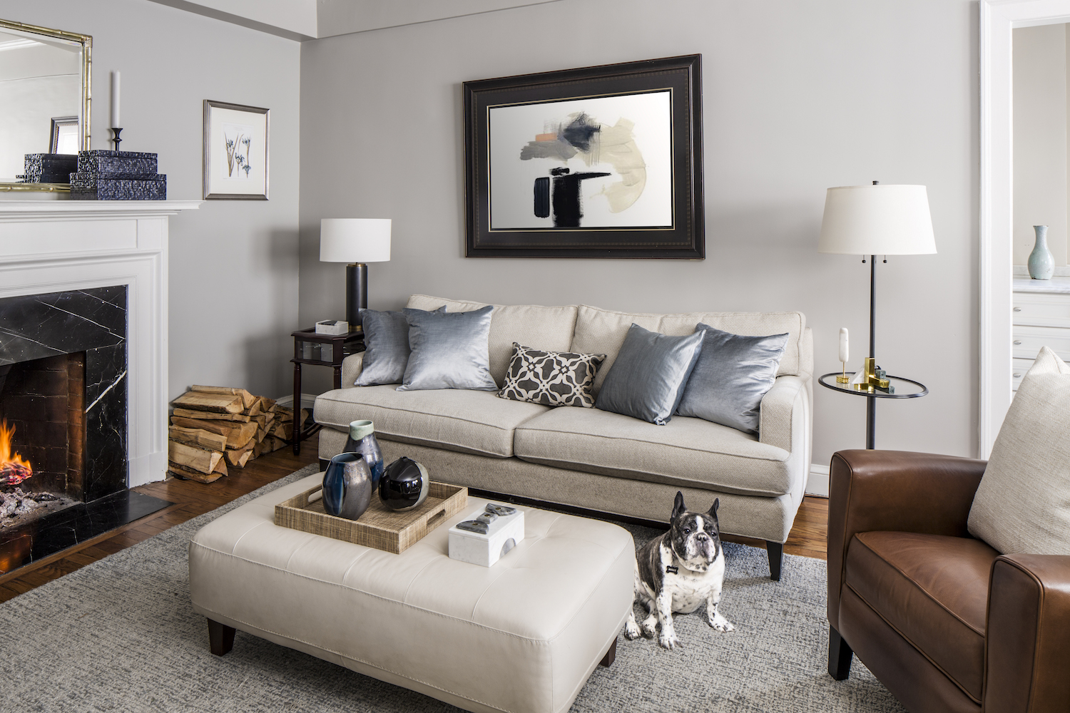 stately living room redesign