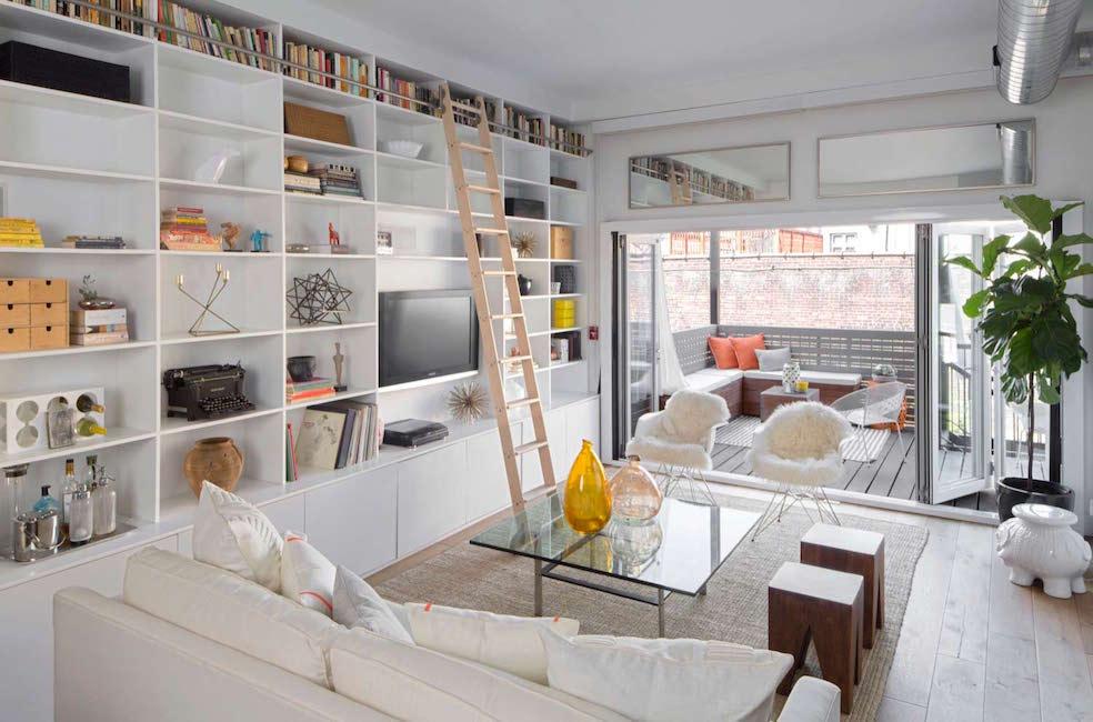 suppress built-in shelves
