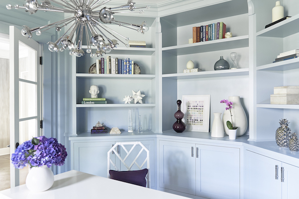 light blue home office