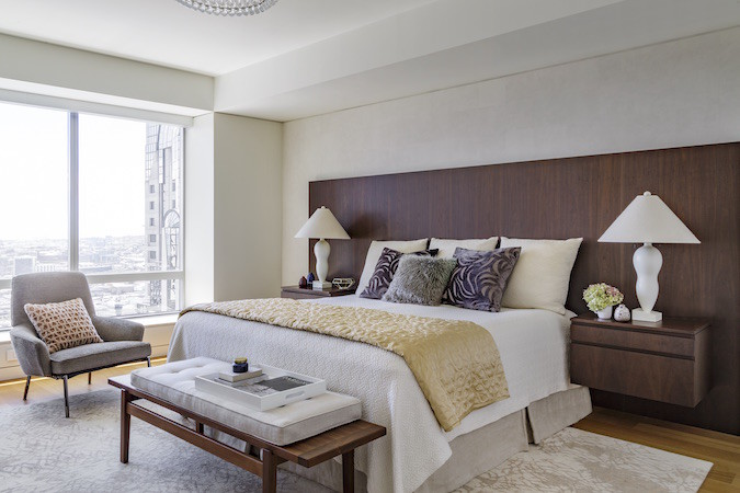 symmetrical bed styling