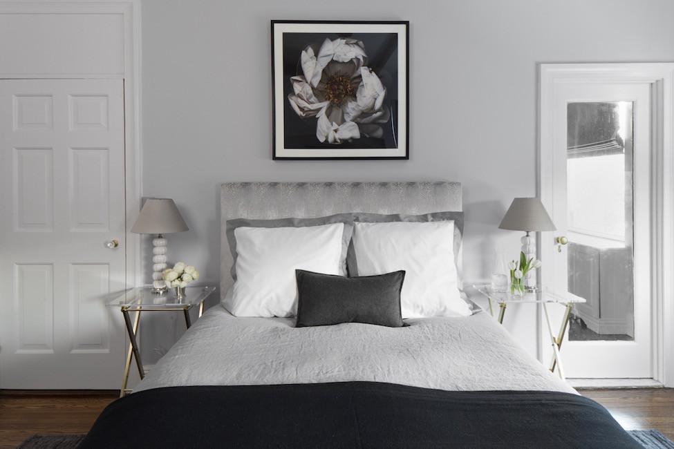 how to hang art in the bedroom