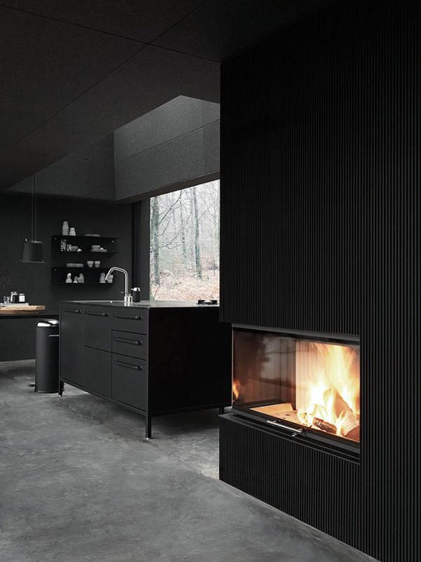 modern minimalist black kitchen