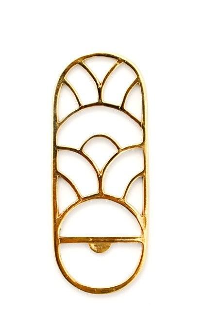 Decorative brass bottle opener