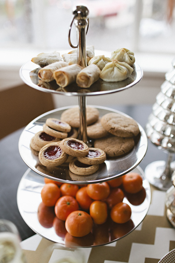 tiered food trays