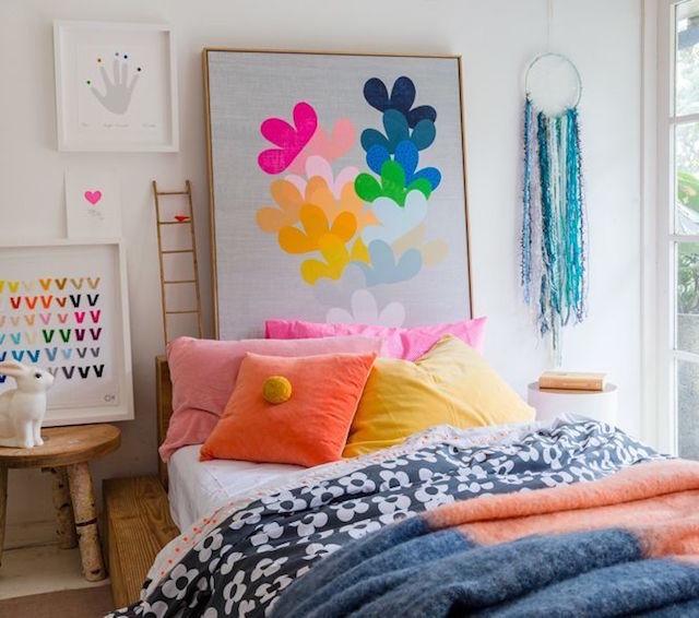 colorful gallery wall nursery