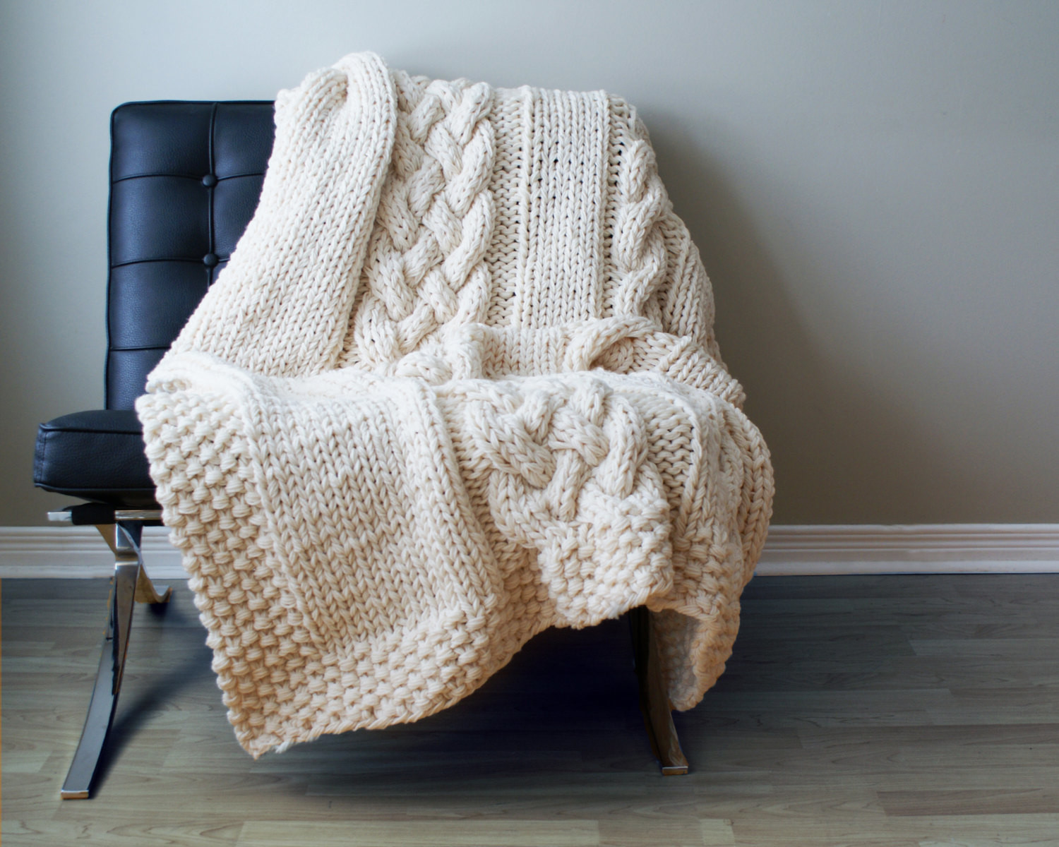 Throw blanket reading chair