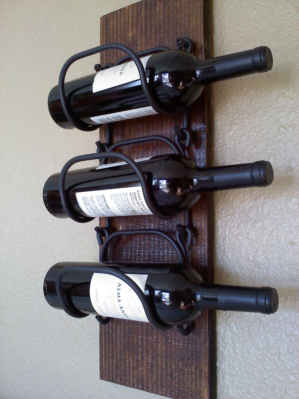 Wall kitchen wine rack