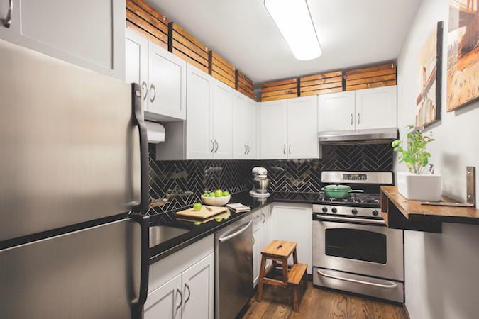 Kitchen storage heights