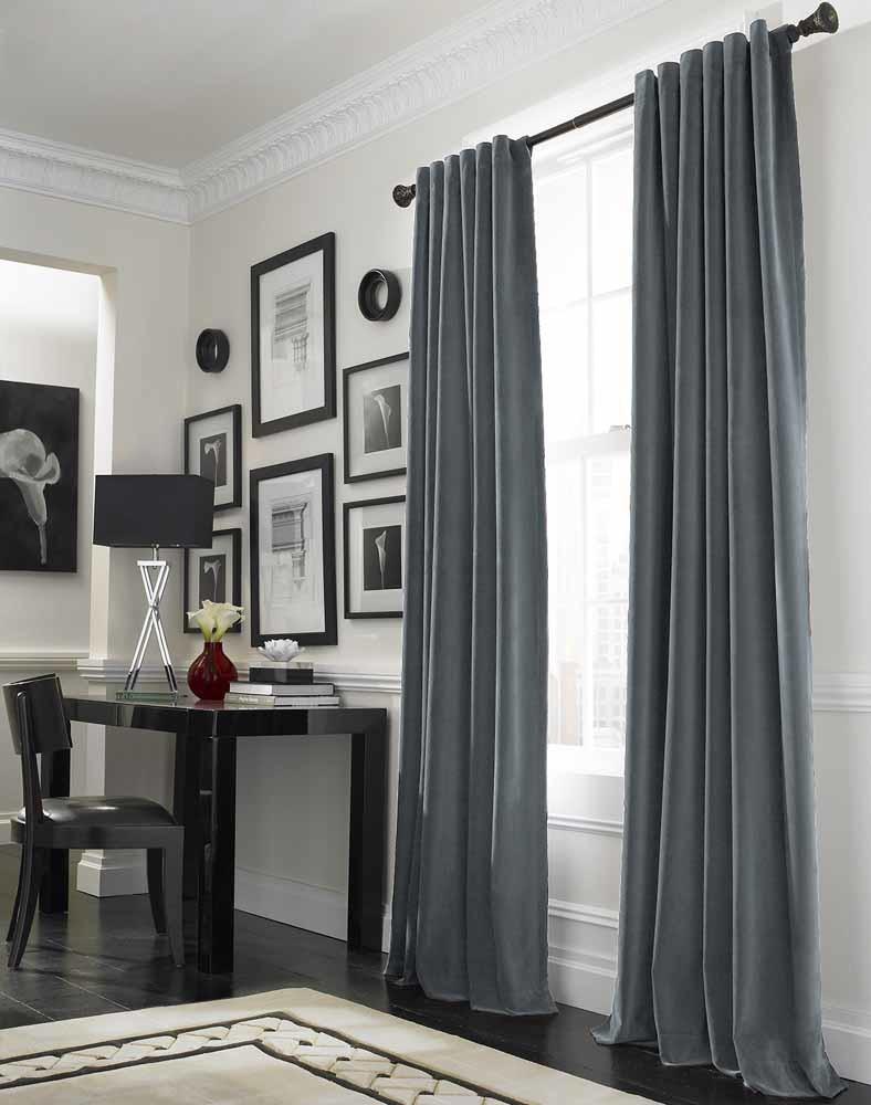 Winter curtains warm windows