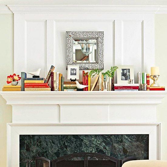 Mantelpiece bookcase