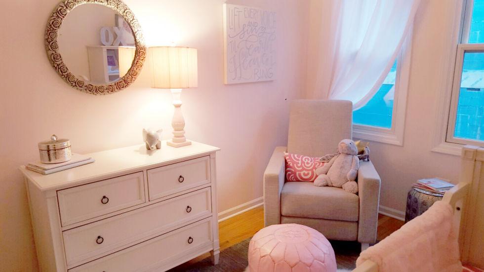 decorate a nursery dresser