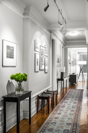 Hallway on the upper west side of the apartment