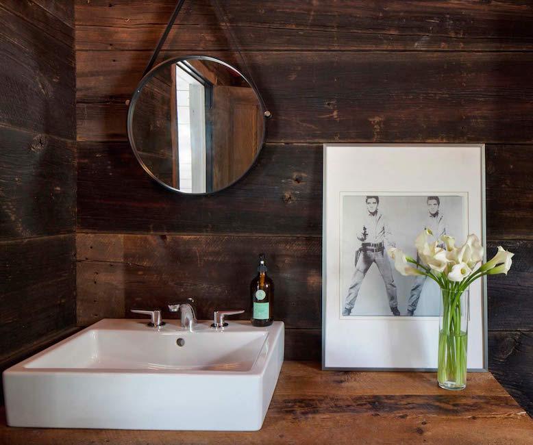 reclaimed wooden sink