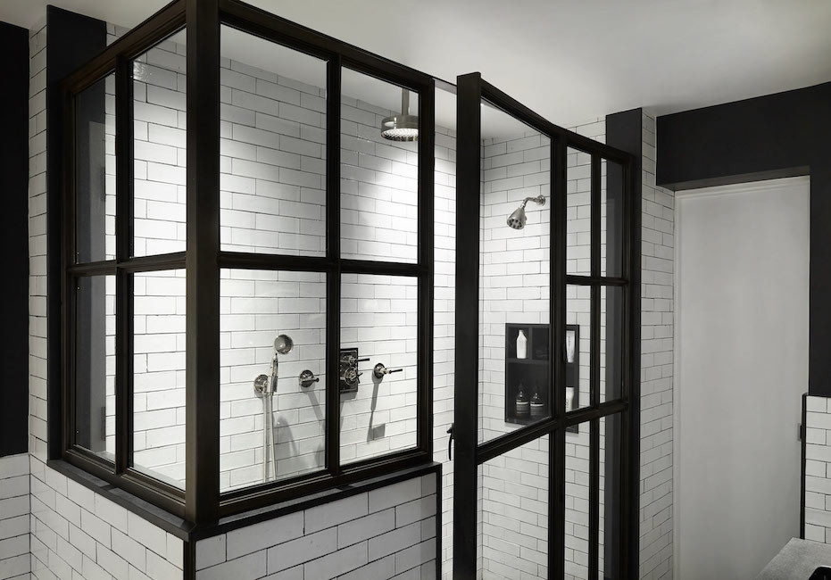 Urban loft iron shower