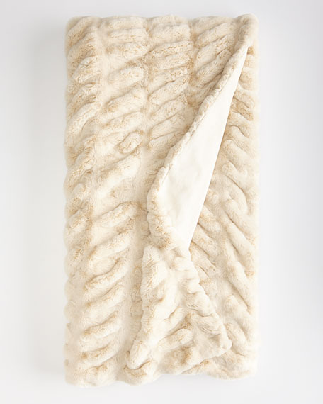 Horchow Faux Mink Throw