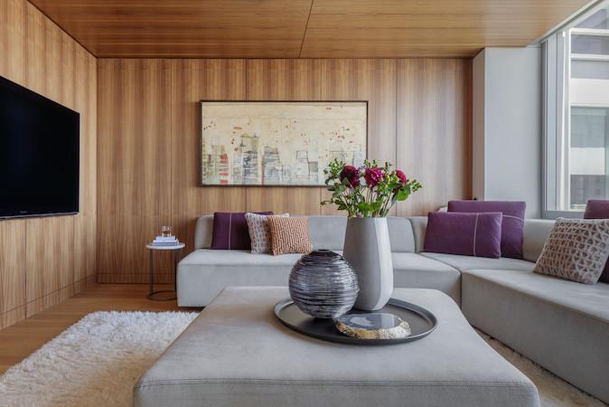 Luxury condominium guest room