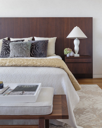 Luxury apartment master bedroom