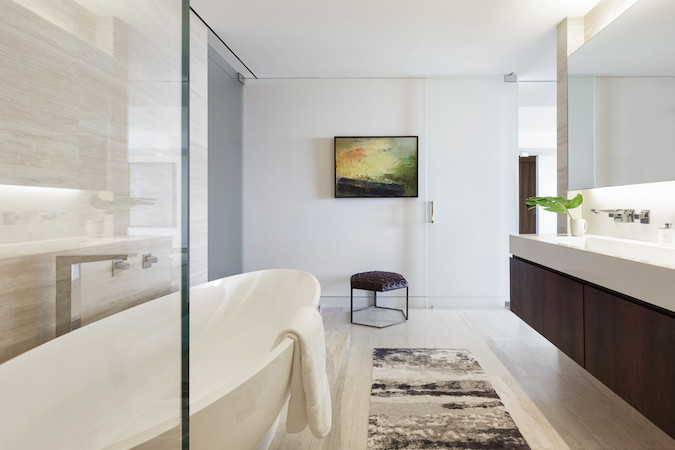 Luxury apartment master bathroom