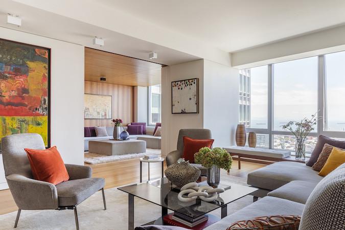 Luxury apartment sliding wall