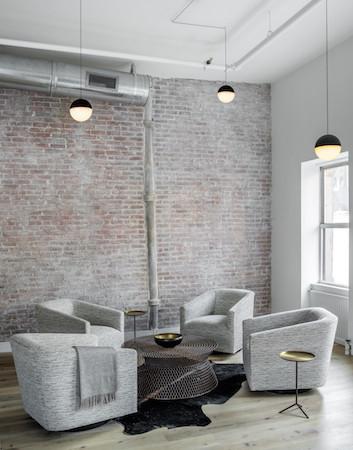 industrial loft cocktail corner